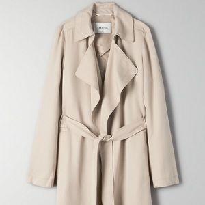 Aritzia Maximo Trench coat in olive beige